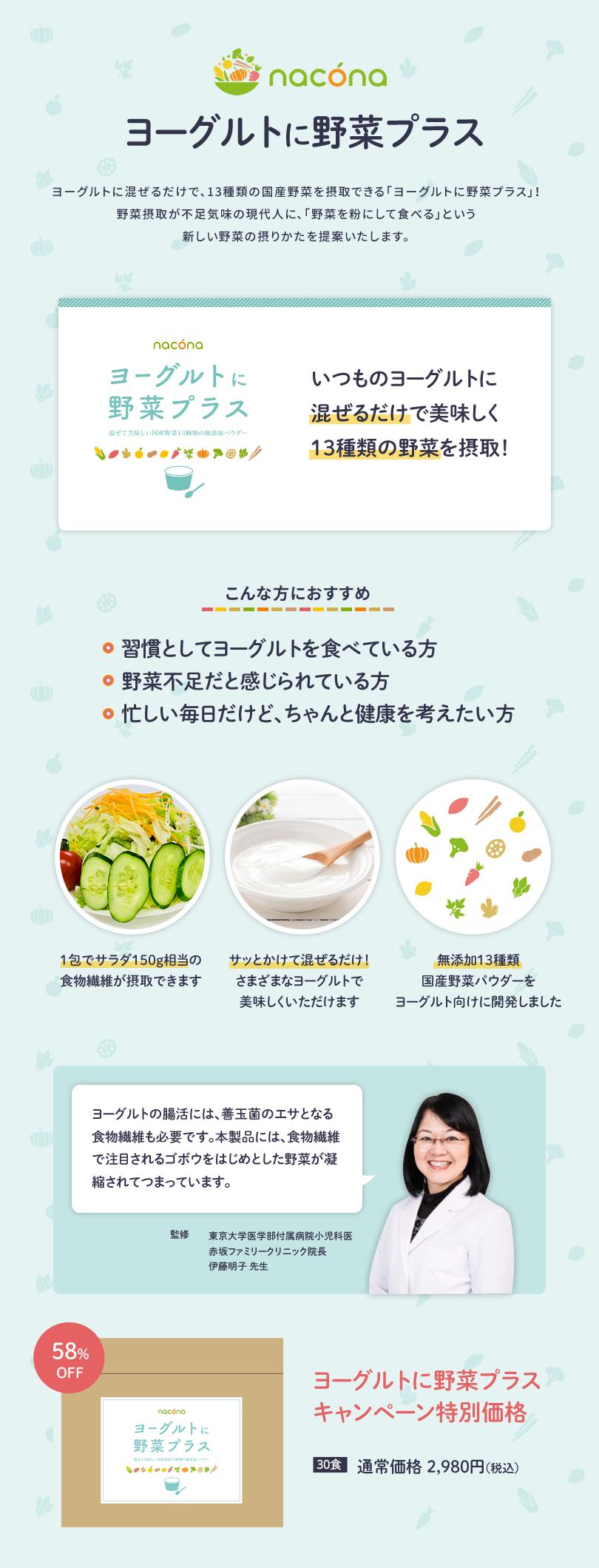ヨーグルトに野菜プラス説明1