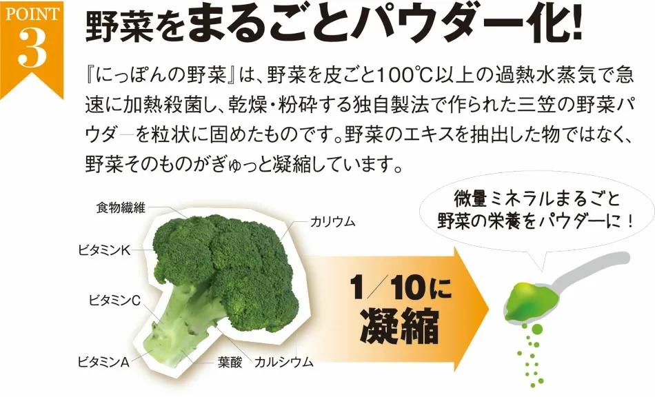 野菜丸ごとパウダー化