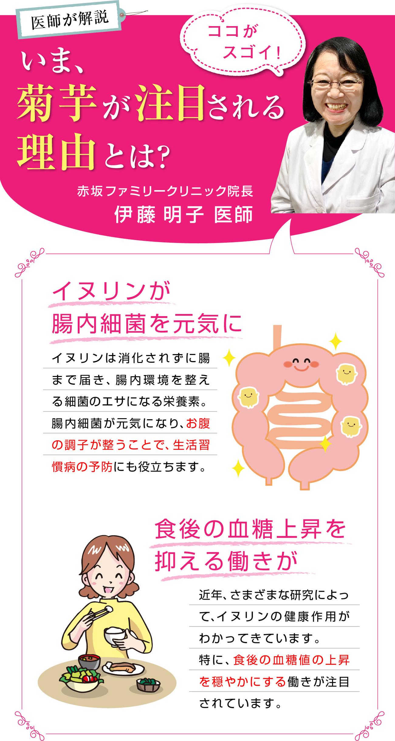 医師が解説いま、菊芋が注目される理由とは?赤坂ファミリークリニック院長伊藤明子医師