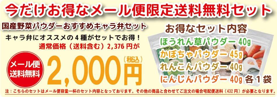 メール便限定装用無料4袋セット2000円